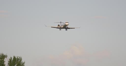 Airport Nuremberg Landing Plane 2 4 K Cine D stock footage