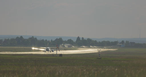 Airport Nuremberg Starting Plane 2 4 K Cine D Filmmaterial