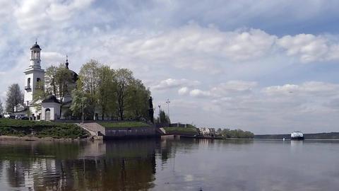 Church of Sts. Alexander Nevsky time lapse Footage
