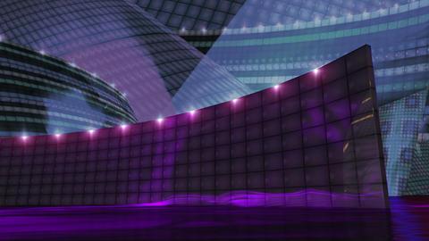 Disco Virtual Set Stage Dark Gold 1
