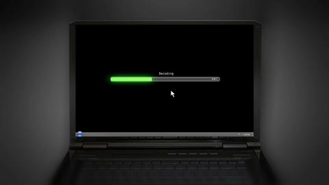 Decoding black laptop screen Animation