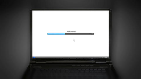 Downloading laptop screen Animation