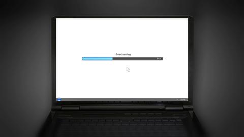 Downloading laptop screen Animation