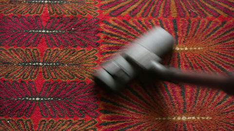 Vacuuming stock footage