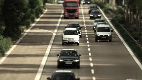 Traffic On German Streets stock footage