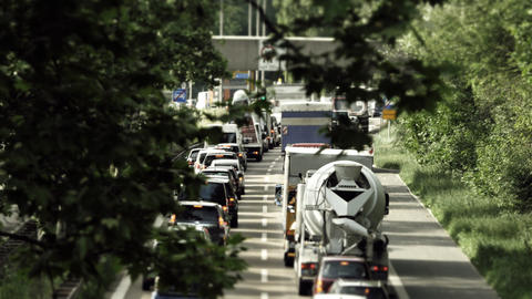 Traffic on german streets Stock Filmmaterial
