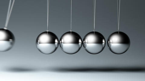 4K Newton's cradle Animation