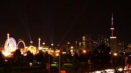 Toronto Skyline Carnival Time-Lapse Footage