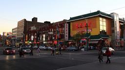 Chinatown Toronto Timelapse 1 stock footage
