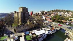 Flying over Goksu River, Turkey Footage
