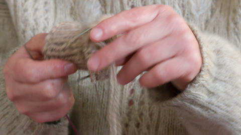 Knitting stock footage