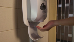 Automatic Hand Sanitizer stock footage