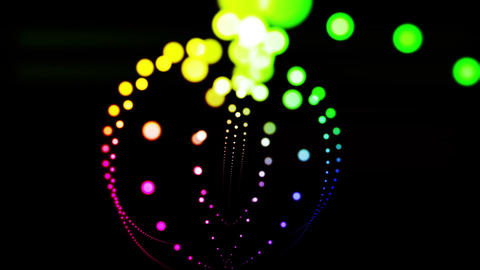 Composition with colored particles Animation