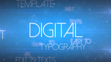 Digital Typography - Apple Motion and Final Cut Pro X Template Apple Motionテンプレート
