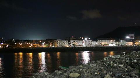 Panama City, Casco Viejo in the night Footage