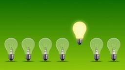 bulbs on green background Animation