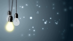 Lighting bulbs on background Animation