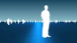 business people on background Animation