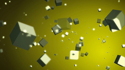 Animation Of Flowing Cubes stock footage