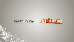 Happy Holiday stock footage