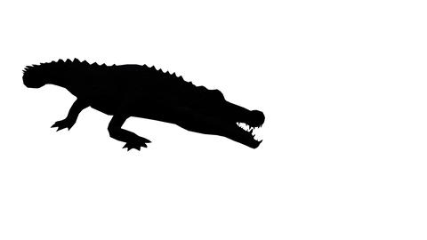 Crocodile open mouth attack hunting,Dangerous animals sketch silhouette Live Action