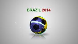 3d soccer ball with brazil flag Animation