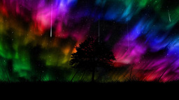 Aurora borealis background Animation