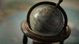 World Globe Close Up HD Stock Footage stock footage