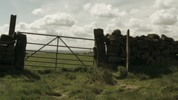 Countryside gate Footage