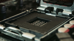 Motherboard Close Up Dolly Shot stock footage