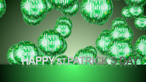 happy st.patrick's day Stock Video Footage