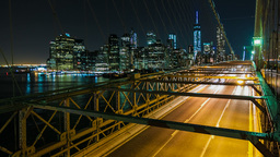 Brooklyn Bridge, New York City stock footage