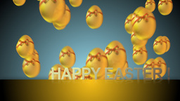 happy easter CG動画素材