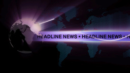 headline news background Animation