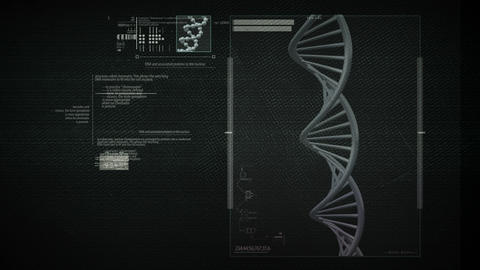 DNA Science Search Loop stock footage
