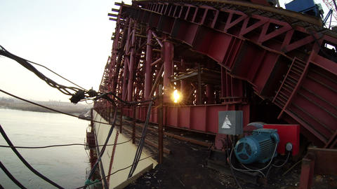 Wide Angle Shot of Bridge Under Construction Footage