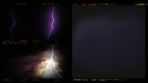4K Collage of Lightning ih Thunderstorm Footage