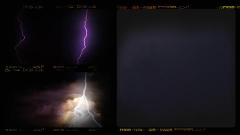 4K Collage of Lightning ih Thunderstorm Footage