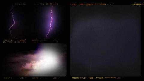 Collage of Lightning ih Thunderstorm Footage