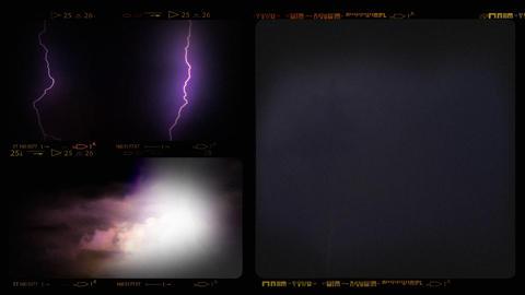 Collage of Lightning ih Thunderstorm Footage