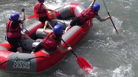 White water rafting Footage