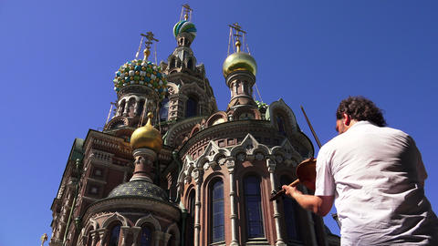 Church of the Savior on Blood in St. Petersburg. V Footage