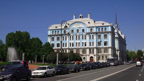 Nakhimov naval school in St. Petersburg. 4K Footage