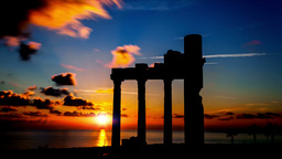 Ruines On Sunset stock footage