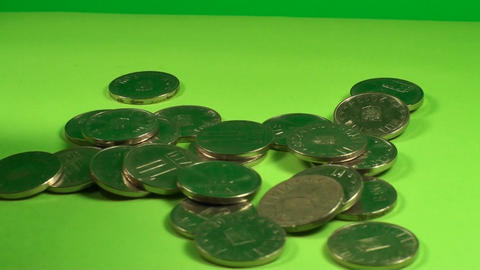 Hand Playing With A Pile Of Coins, Chroma, Currenc Live Action