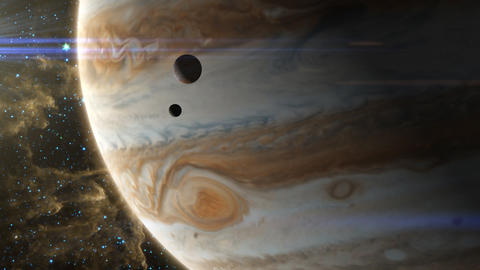 Jupiter Storm and Moons Animation