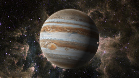 Planet Jupiter with Europa Animation