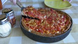 4K Slice of Pizza Footage