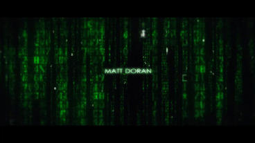 Matrix Movie End Title AE Template stock footage