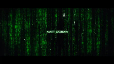 Matrix Movie End Title AE Template After Effects Template